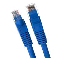 Micro Connectors Cat 6A Molded Boots Network Cable 5 ft. - Blue