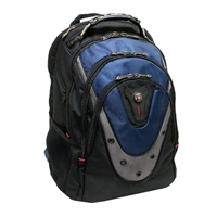 "Swiss Gear Ibex Laptop Backpack Fits Screens up to 17"" - Blue/Black"