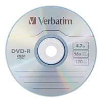 Verbatim DVD-R 16x 4.7GB/120 Minute Disc 50 Pack