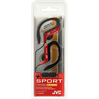 JVC Sports Clip Earbuds w/ Mic - Red