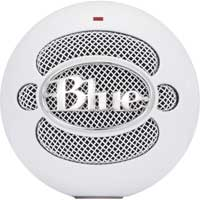 Blue Microphones Snowball iCE USB Condenser Microphone with HD Audio - White