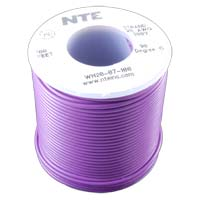 NTE Electronics 24 Gauge Stranded Hook-Up Wire 100-Foot Violet