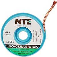 NTE Electronics No-Clean Wick w/Anti-Static Bobbin #3 Green