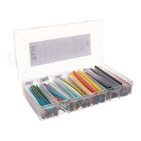NTE Electronics Heat Shrink 2:1 Assorted Colors and Sizes 160 PCS