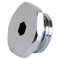 "Swiftech G 1/4"" Lok-Seal Plug Fitting with O-Ring - Chrome"