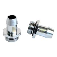 "Swiftech G 1/4"" Eurostyle Straight Barbed Fitting - Chrome"