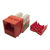 Shaxon CAT5e RJ45/110 Keystone Jack Orange Single Pack