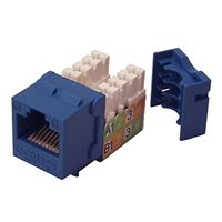 Shaxon CAT5e RJ45/110 Keystone Jack Blue Single Pack