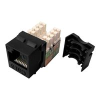 Shaxon CAT6 RJ45 to 110 Keystone Jack Black Single Pack