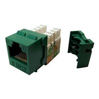 Shaxon CAT6 RJ45/110 Keystone Jack Green Single Pack