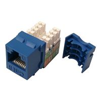 Shaxon CAT6 RJ45/110 Keystone Jack Blue 5-Pack