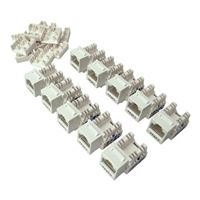 Shaxon CAT6A RJ45 to 110 Keystone Jack White 10-Pack