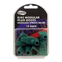 Shaxon Strain Relief Molded Boots 10 Pack - Green