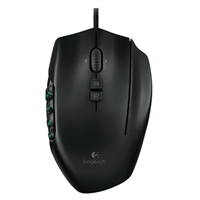 Logitech G G600 MMO Gaming Mouse, RGB Backlit, 20 Programmable Buttons
