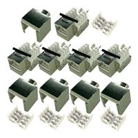 Shaxon CAT6 RJ45 to 110 Shielded Keystone Jack Silver 5-Pack