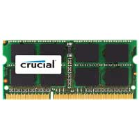 Crucial 4GB DDR3-1066 (PC3-8500) CL7 SO-DIMM Laptop Memory Module...