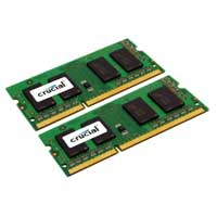 Crucial 8GB DDR3-1066 (PC3-8500) CL7 SO-DIMM Laptop Memory Kit (Two 4GB Apple Memory Modules)