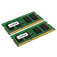 Crucial 8GB DDR3-1600 (PC3-12800) CL11 SO-DIMM Laptop Memory Kit (Two 4GB Apple Memory Modules)