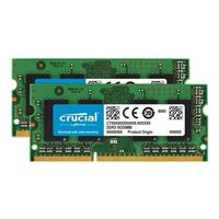 Crucial 16GB DDR3-1600 (PC3-12800) CL11 SODIMM Laptop Kit (Two 8GB...