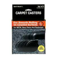 Master Caster Replacement Chair Casters for Carpeting - 5 Pack