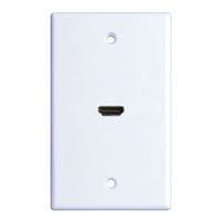 Just Hook It Up HDMI Wall Plate 1080p - White