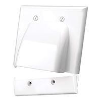 Just Hook It Up Dual Bulk Cable Wall Plate - White