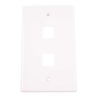 Just Hook It Up Multi-Media Keystone Wall Plates - White
