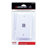 Just Hook It Up 6-Port Multi-Media Keystone Wall Plate - Almond
