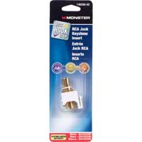 Just Hook It Up Gold Plated RCA Keystone Insert - White