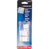 Just Hook It Up Blank Keystone Inserts 5-Pack - White