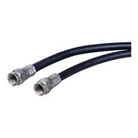 Just Hook It Up Coax Male to Coax Male RG-6 Quad Shielded Cable 25 ft. - Black