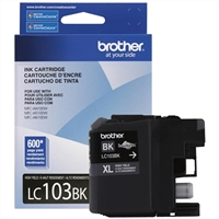 Brother LC103BK High Yield Black Inkjet Cartridge