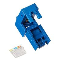 Platinum Tools EZ-SnapJack Cat5e 4-Pack Blue