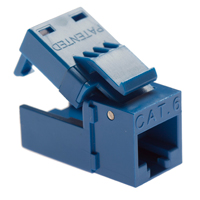 Platinum Tools EZ-SnapJack Cat 6 4-Pack Blue