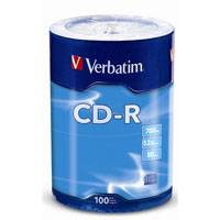 Verbatim CD-R 52x 700MB/80 Minute Disc 100 Pack Wrap