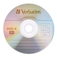 Verbatim DVD+R 16x 4.7GB/120 Minute Disc 100-Pack Shrink Wrap