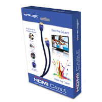Wirelogic HDMI Male to HDMI Male Cable 9 ft. - Blue