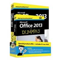 Wiley Office 2013 For Dummies, Book + DVD Bundle, 1st Edition
