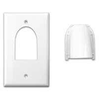 Just Hook It Up Custom 2-Piece Bulk Cable Wall Plate Single Gang - White