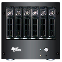Sans Digital AccuNAS 6-Bay iSCSI Network Attached Storage Enclosure...