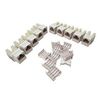 Purex CAT 6 90-Degree Keystone Jack - White