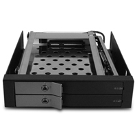 "Vantec MRK-225S6-BK EZ Swap EVO Dual Bay 2.5"" SATA III 6Gb/s SSD/HDD Removable Rack"