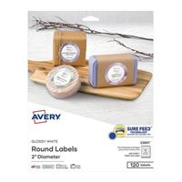 Avery 22807 Printable Round Labels with Sure Feed