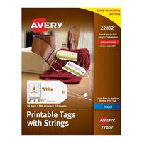 Avery 22802 Printable Tags with Strings