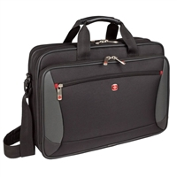 "Swiss Gear Mainframe Laptop Briefcase Fits Screens up to 16"" - Black"