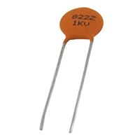 NTE Electronics Ceramic Disc Capacitor - 0.01UF 1000V 80%, -20% Tolerance Radial Lead
