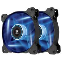 Corsair Air AF120 Quiet Edition Blue LED Sleeve Bearing 120mm Case Fan - Twin Pack