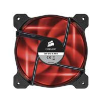Corsair Air AF120 Quiet Edition Red LED Sleeve Bearing 120mm Case Fan