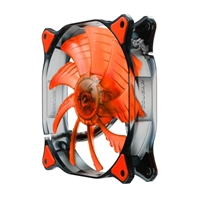 H.E.C. Cougar CFD12HBR Ultra Silent Red LED Hydraulic Bearing 120mm Case Fan