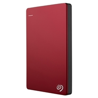 "Seagate Backup Plus Slim 2TB USB 3.0 2.5"" Portable External Hard Drive - Red"